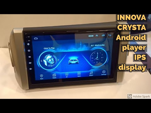 For Toyota Innova Crysta Android car stereo with Gorilla glass and IPS display