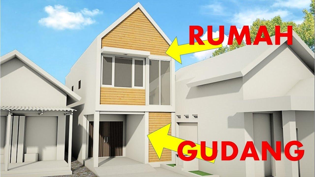 Desain Rumah Minimalis Diatas Gudang/Garasi #2 - YouTube