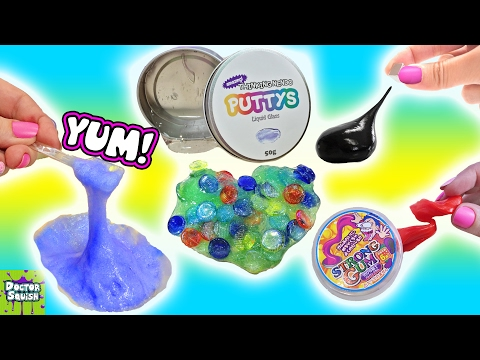 Squishy Putty Collection! Magnetic Thinking Putty Liquid Glass