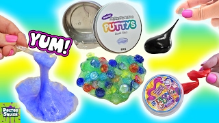 squishy putty collection eating slime magnetic thinking putty liquid glass doctor squish