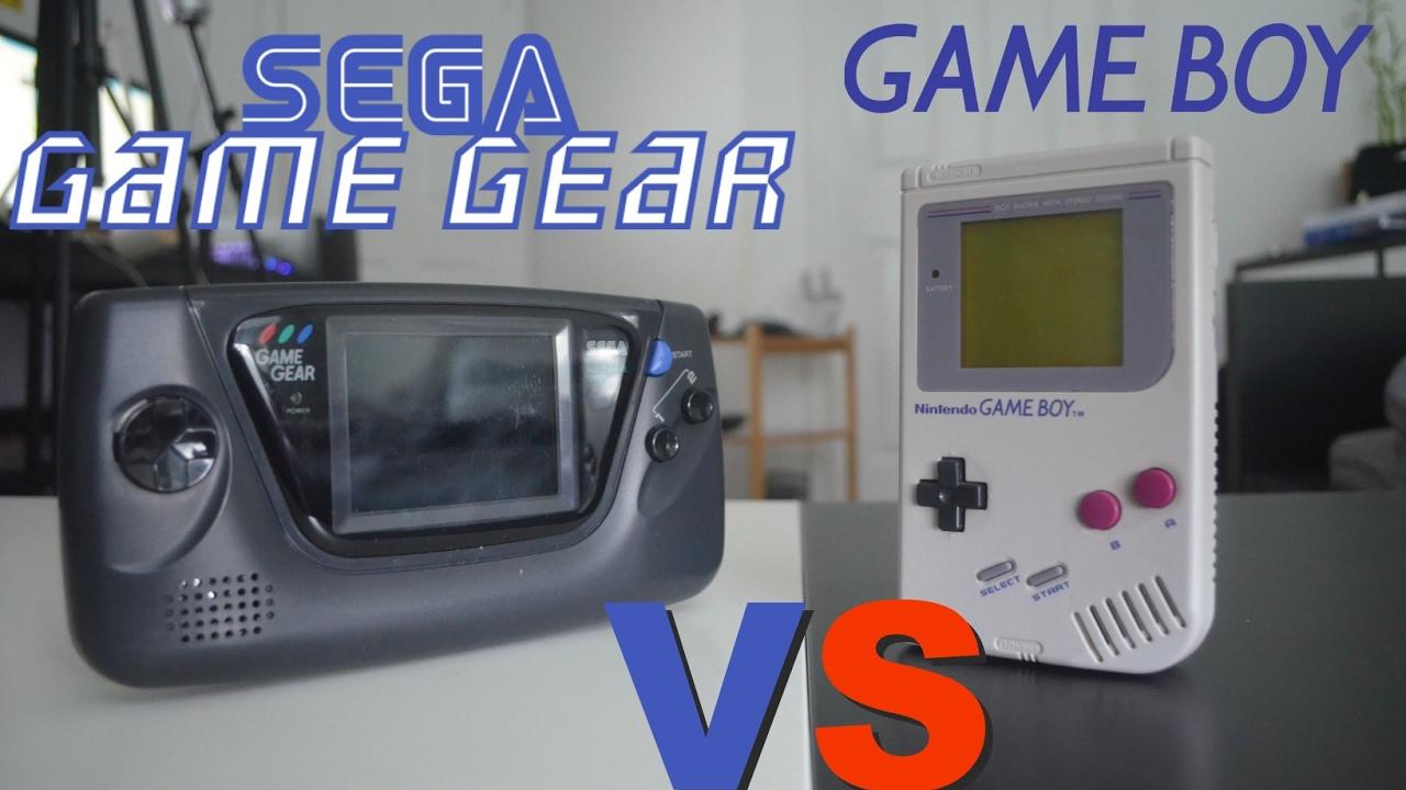 Sega Nomad Vs Game Gear