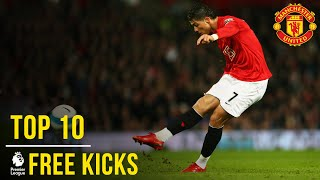 Manchester United's Top 10 Premier League Free Kicks | Manchester United