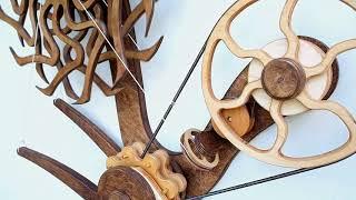 Wooden Kinetic Sculpture  -  OCTOPUS