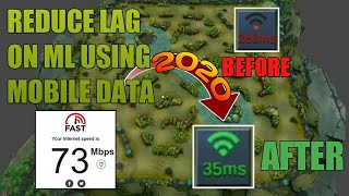 HOW TO REDUCE LAG ON MOBILE LEGENDS 2020 USING MOBILE DATA ONLY   LOW PING ON MLBB