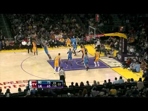 Kobe Bryant 11 points (he missed 18 shots) and made clutch shot for the win vs New Orleans Hornets