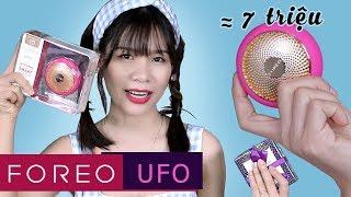 Mở hộp Foreo UFO - Máy Đắp Mặt Nạ Siêu Tốc Trong 90 giây giá gần 7 triệu | Tiny Loly
