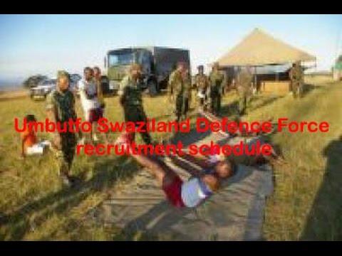 Umbutfo Swaziland Defence Force recruitment schedule