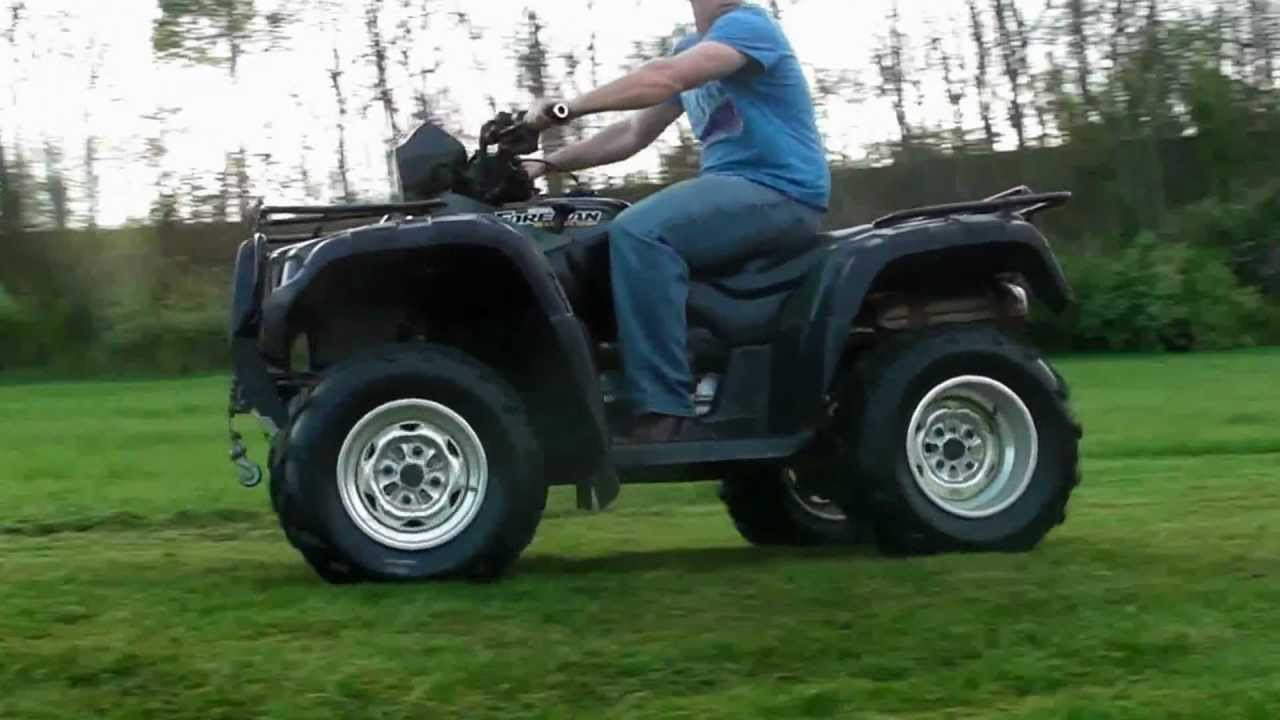 Honda Foreman 500 >> Honda Foreman Rubicon 4x4 ATV TRX 500 ride along...HD - YouTube