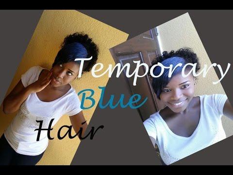 Temporary Blue Hair Tutorial (oil Pastels)