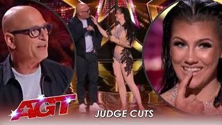 "Girl Makes Howie Mandel REGRET His ""NO"" By Hanging Him From Her Teeth 