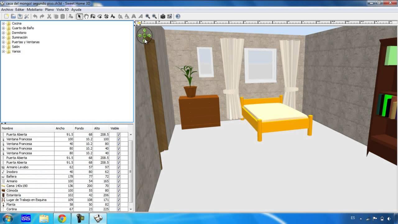 Como Descargar Sweet Home 3d Introduccion En Espa Ol Youtube