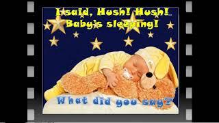 Джазовые разговорные аккорды Sh Baby S Sleeping Тихо Ребёнок спит