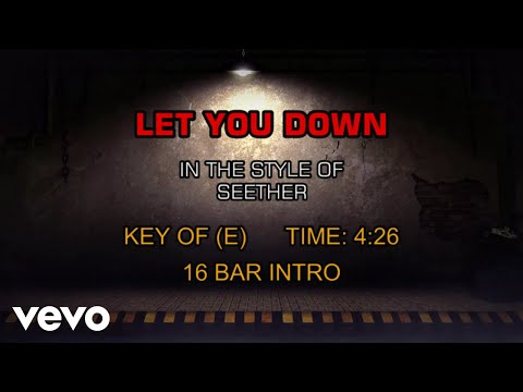 Seether - Let You Down (Karaoke)