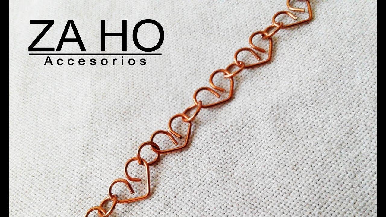 Como hacer cadenas en alambre ¡APRENDE FACIL Y RAPIDO! BISUTERIA TUTORIAL 002
