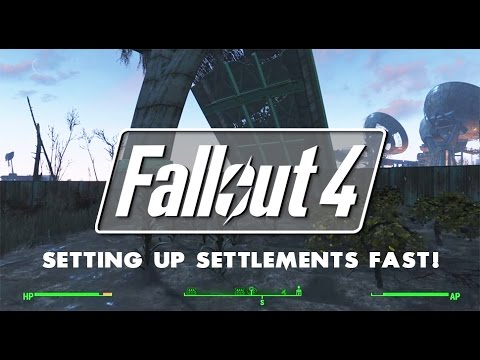 fallout 4 how to build settlements