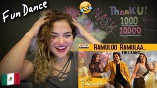MEXICAN GIRL Reacts RAMULOO RAMULAA Song Reaction | ALLU ARJUN