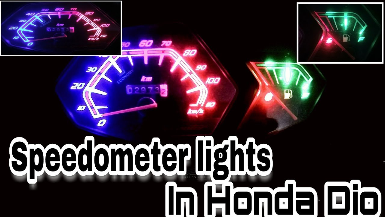 how to change speedometer lights in honda dio in hindi  [ 1280 x 720 Pixel ]