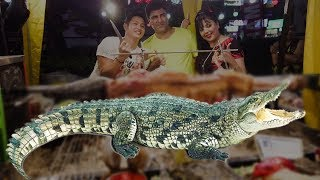 Full Crocodile Roast BBQ - Making Crocodile BBQ - Thailand Street Food