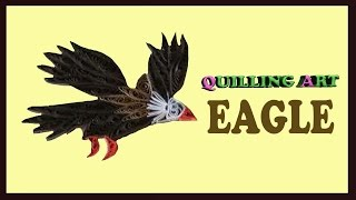 paper quilling eagle