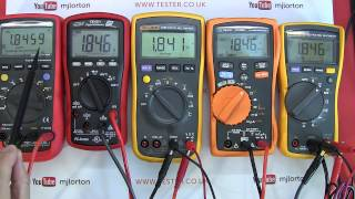 Review: Mid Range / Priced Multimeter Shootout / Buyers Guide