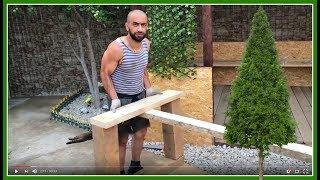 ВЛОГ: Как сделать стол обеденный деревянный своими руками + Ландшафтный дизайн Озеленение участка