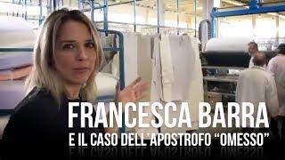 """Politiche 2018. Francesca Barra risponde sull'apostrofo """"omesso"""""""