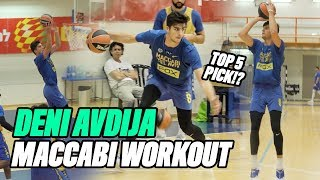 Projected Top 5 NBA Pick Deni Avdija Is An ANIMAL! Israeli Star Can Do It ALL! 🔥Practice Highlights