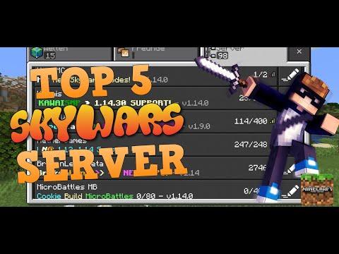 ✔️ Top 5 SKYWARS Minecraft PE SERVER! ★「MCPE DEUTSCH MULTIPLAYER SERVER」- StyloHD