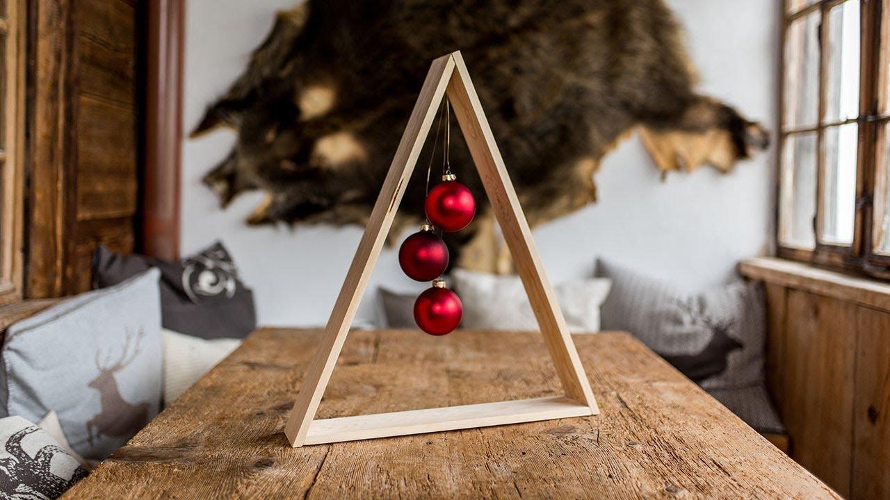 Project Tutorial: Tannenbaum Im Holz Design Basteln. DIY