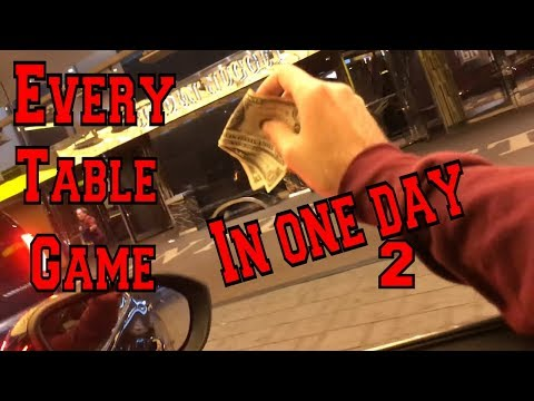 EVERY Table Game. EVERY Casino. One Day 2 (Gambling Vlog #64) Atlantic City