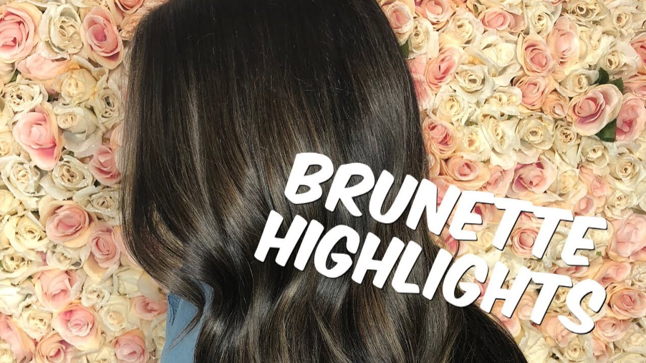 How To Highlight Dark Hair Youtube