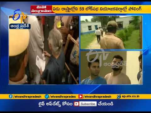6th phase of polling Continues Peacefully