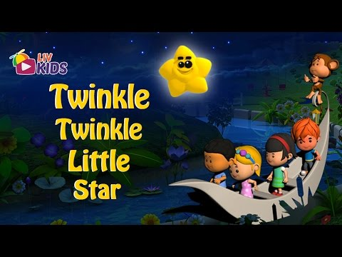 Twinkle Twinkle Little Star with Lyrics  LIV Kids Nursery Rhymes and Songs  HD