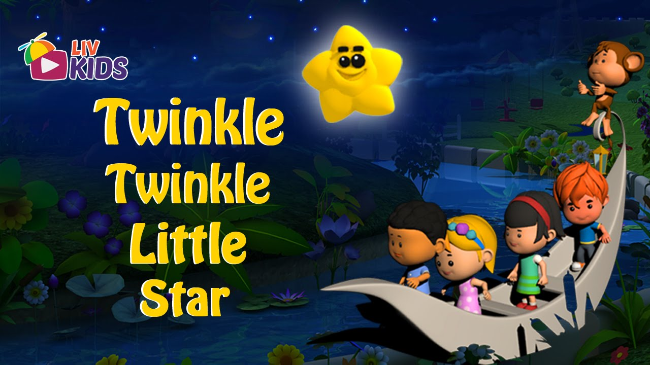 Twinkle Twinkle Little Star with Lyrics | LIV Kids Nursery Rhymes and Songs | HD
