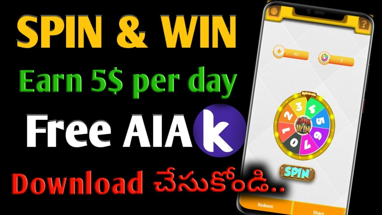 Spin and Win AIA file for Kodular | How to make android apps in kodular | In telugu