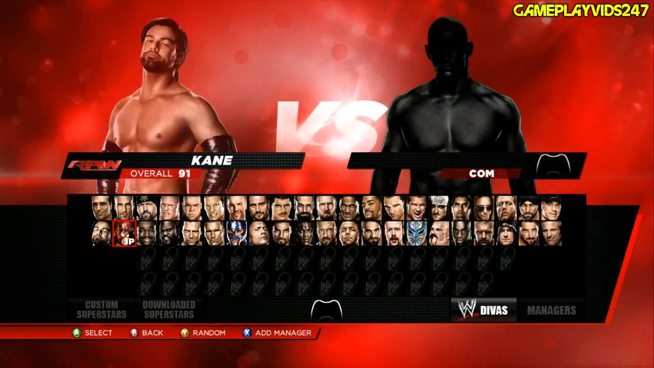 Wwe 2k14 roster slots