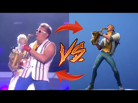 *ALL NEW* Fortnite Emotes IN REAL LIFE! (Epic Sax Guy, Showstopper, Spike it, and More!)