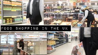 GROCERY SHOPPING FOR A FAMILY OF THREE IN THE UK