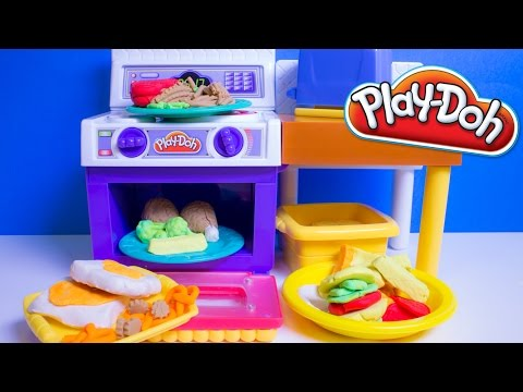 Play doh meal makin kitchen playset toy review play doh meal makin kitchen clip60 - Cocina play doh ...