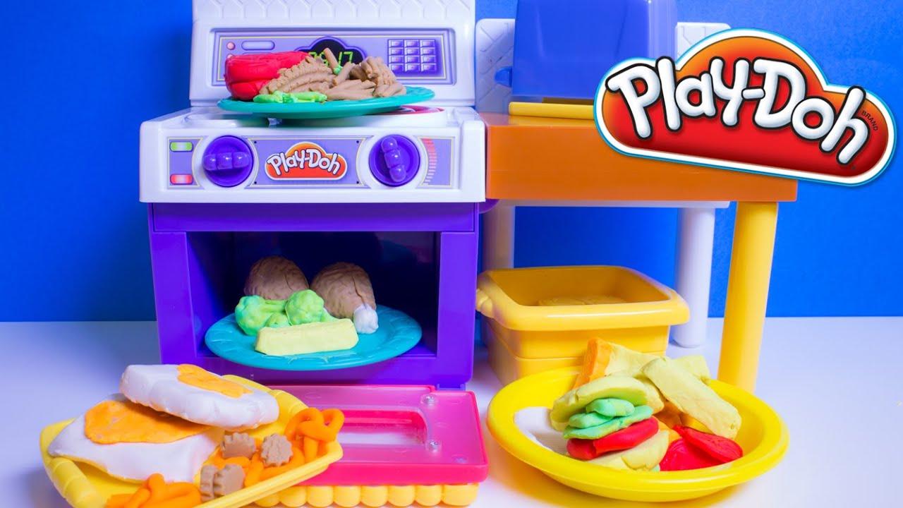 play doh meal makin kitchen playset play dough mini kitchen chef cocinita de juguete con. Black Bedroom Furniture Sets. Home Design Ideas