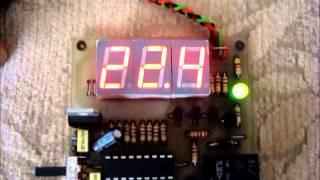 Pic16F88 & DS18B20 Temperature Control System