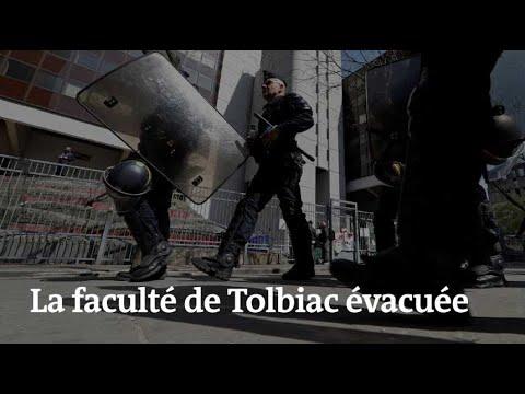 🔴 Images de la faculté de Tolbiac, évacuée après vingt-cinq jours de blocage