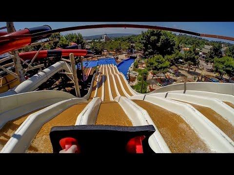 Western Park Magaluf - Multipistas (Mat Racer Slide) Onride POV