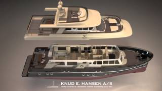 Custom Explorer Yachts. One hull type – two customized superstructures