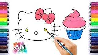 How to draw Hello Kitty | Hello Kitty Easy Draw Tutorial - HOW TO DRAW A CUTE CUPCAKE