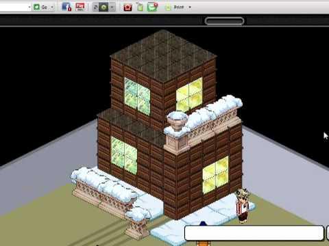 Construyendo casa sencilla en habbo youtube for Como hacer una casa en habbo