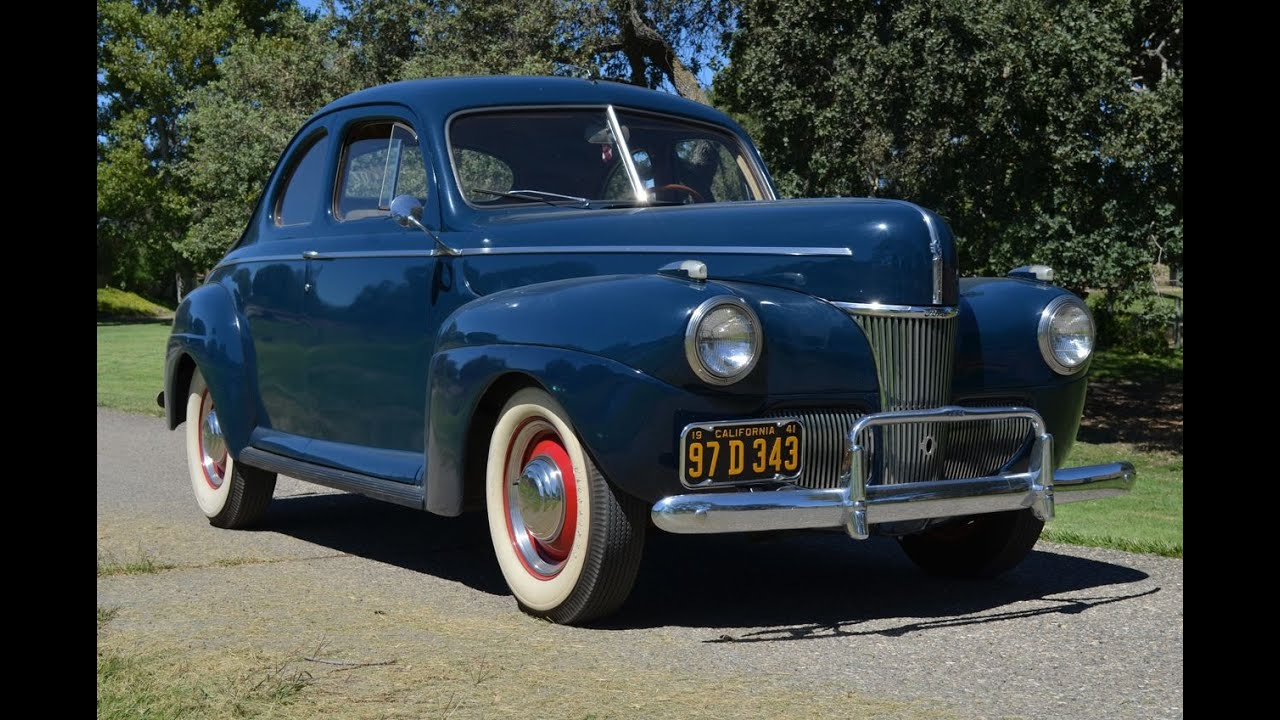 sold 1941 ford deluxe opera coupe ca youtube. Black Bedroom Furniture Sets. Home Design Ideas