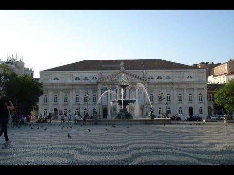 Praça de D. Pedro IV Lisboa Portugal / Rossio Square Lisbon Portugal