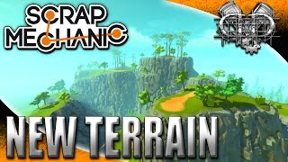 Scrap Mechanic Gameplay : Update: New Terrain! Caves, Canyons, and Big Ramps! (HD Let's Play PC)