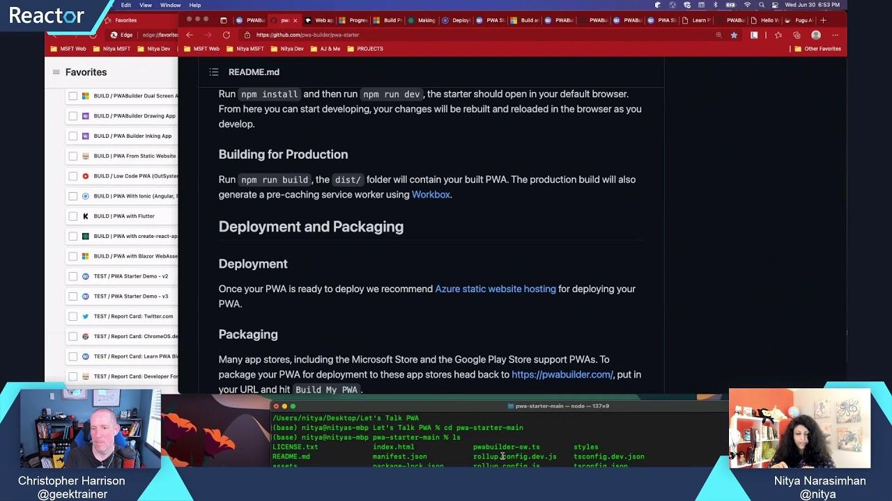 Building Progressive Web Apps with Nitya Narasimhan